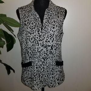 Chico's Size 1 animal print vest